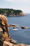 Skalisty wybrzeże Maine fotografia stock