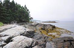 Skalisty wybrzeże Maine obraz royalty free