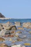 Skalisty wybrzeże Massachusetts obrazy royalty free