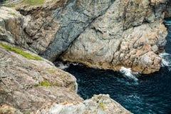 Skalisty wybrze?e morze Japonia fotografia stock