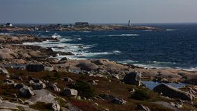 Skalisty wybrzeże nowa Scotia obrazy stock