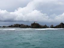 Skalisty wybrzeże Seychelles zdjęcia royalty free