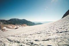 Skalistych gór lodowa śniegu krajobraz Obraz Royalty Free