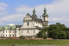 Skalka和维斯瓦河大道的教会在老镇在Krak 库存图片