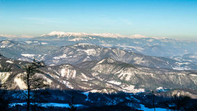 From Skalka. On front is Velka Fatra and behind the Low Tatras Stock Images