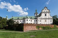 Skalka kyrka i Krakow, Europa royaltyfria bilder