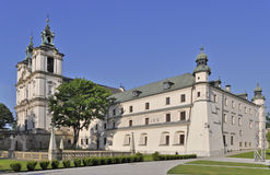 Skalka Sanctuary in Cracow, Poland. St. Stanislaus church and Paulinite monastery in Krakow, Poland. Famous historic place stock photo
