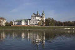 Skalka, St. Stanislaus Church in Krakow, View from Vistula River Stock Photos