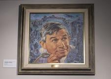 Skall Rogers målning av Charles Banks Wilson, Claremore, Oklahoma Royaltyfri Fotografi