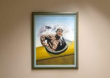 Skall Rogers olja på kanfasmålning, Claremore, Oklahoma Royaltyfri Foto
