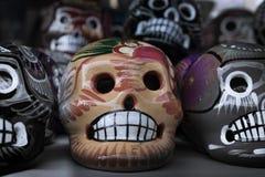 Skallar av Mexico, en gammal tradition royaltyfri fotografi