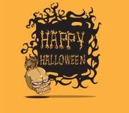 Skalle halloween Fotografering för Bildbyråer