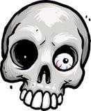 Skalle med ögongloben Royaltyfri Fotografi