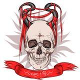 Skalle med horns vektor illustrationer