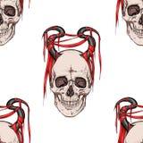 Skalle med horns stock illustrationer
