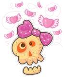 Skalle med rosa färgpilbågen Royaltyfri Foto