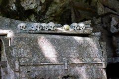 Skalle och ben av ketekesufolk Arkivfoton