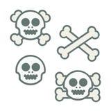 Skalle och Crossbones stock illustrationer