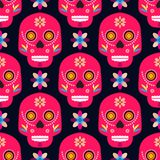 Skalle pattern8 stock illustrationer