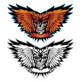 Skalle Wing Logo Graphic royaltyfri illustrationer