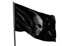 Skallen piratkopierar flaggan Royaltyfria Foton