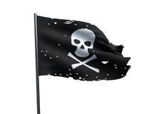 Skallen piratkopierar flaggan Arkivfoto