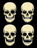 Skallesinnesrörelsefärg stock illustrationer