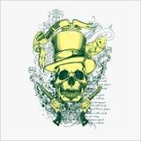 Skallevektorillustration för olika designbehov royaltyfri illustrationer
