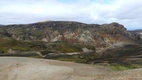 Поход Skalli - Landmannalaugar, короткий трек близко к горячие источники стоковое фото rf