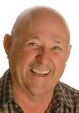 skallig lycklig manpensionär Arkivbilder