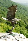 Skalliga Eagle staty Royaltyfri Fotografi