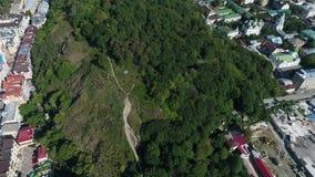 Skalligt berg för slott i Kiev lager videofilmer