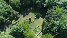 Skalligt berg kiev ukraine arkivfilmer