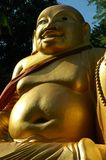 skalligt buddha fett le Arkivbild