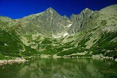 Skalnate pleso, High Tatras. Tarn Skalnate pleso in High Tatras mountains, Slovakia stock photo