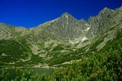 Skalnate pleso, High Tatras. Tarn Skalnate pleso in High Tatras mountains, Slovakia royalty free stock image