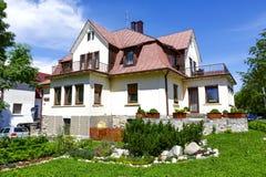 Skalnica, casa per le vacanze in Zakopane Fotografia Stock