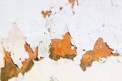 Skalning av målarfärg på väggen Arkivfoton