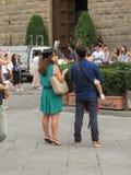 Skalowanie ceremonia w Florencja Obrazy Royalty Free