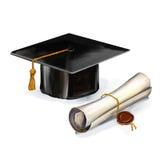 Skalowanie dyplomu i nakrętki wektoru ilustracja ilustracja wektor