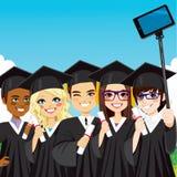 Skalowanie Grupowy Selfie ilustracja wektor