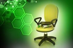 Skalowanie kapelusz w biurowym krześle Zdjęcie Royalty Free