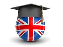 Skalowanie nakrętka i UK flaga royalty ilustracja