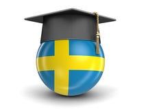Skalowanie nakrętka i szwedzi flaga Zdjęcie Royalty Free