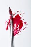 Skalpela ostrze z krwią Zdjęcia Royalty Free