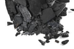 Skamieliny węglowa tekstura, zamyka up, tło zdjęcia stock