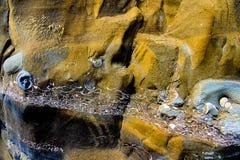 Skamieniałe warstwy osadzać w piaskowu przy kalifornijczykiem suną Fotografia Stock