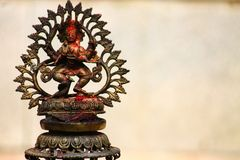 Skanda war god ans son of Shiva. An image of the Hindu war god Skanda, the son of Shiva. In a temple complex in Pokhara, Nepal stock photo