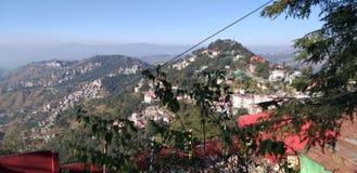 Skandalu punkt, grań, centrum handlowe droga, Shimla, India obraz stock