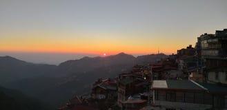 Skandalu punkt, grań, centrum handlowe droga, Shimla, India obrazy stock